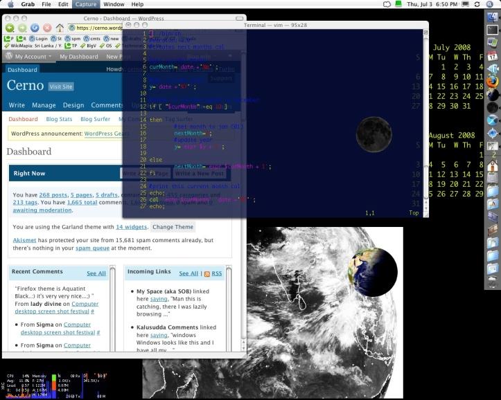 OS X desktop screen grab