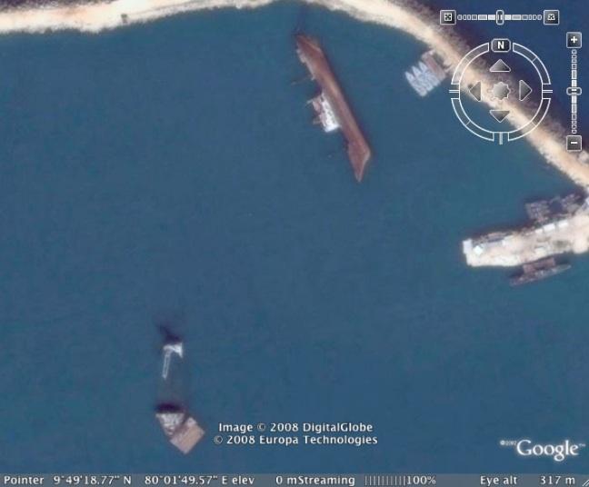 Capsized ship, Kankesanturai Harbour, Sri Lanka