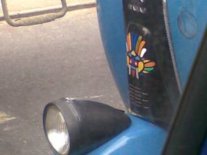 Detail of three wheel taxi, Sri Lanka