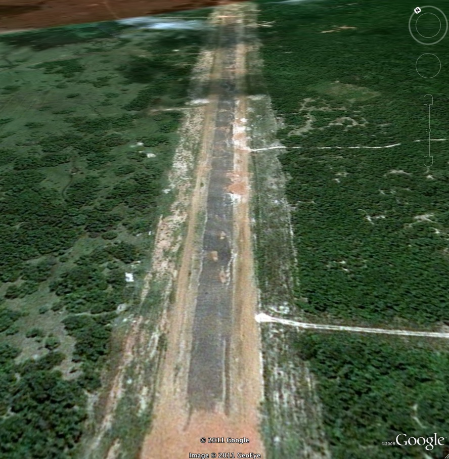 Cockpit view of Mullativu runway Sri Lanka