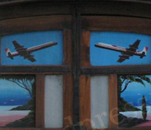 Truck art details with aircraft