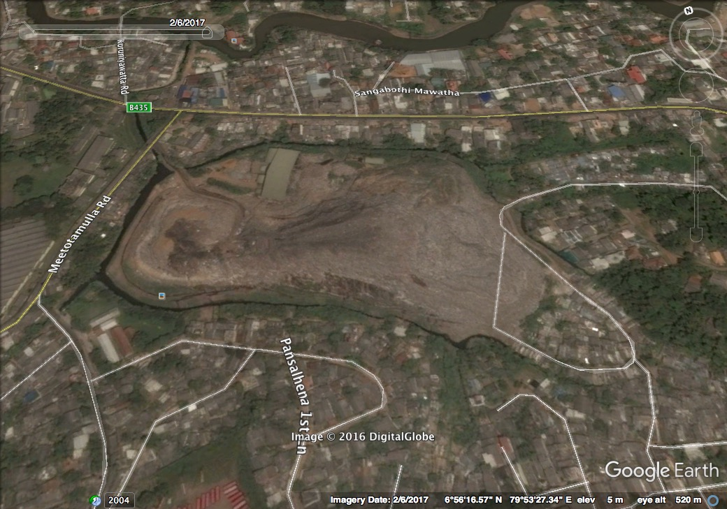 Meethotamulla rubbish mountain Feb 2017
